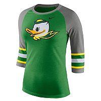 Women's Nike Oregon Ducks Striped Sleeve Tee