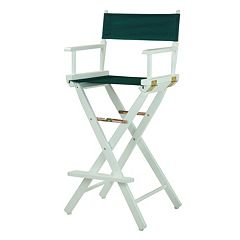 Casual Home 30'' White-Finish Director's Chair Bar Stool
