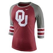 Women's Nike Oklahoma Sooners Striped Sleeve Tee