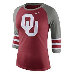 Women's Nike Oklahoma Sooners Striped Sleeve Tee
