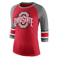 Women's Nike Ohio State Buckeyes Striped Sleeve Tee