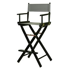Casual Home 30'' Black Finish Director's Chair Bar Stool