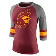 Women's Nike USC Trojans Striped Sleeve Tee