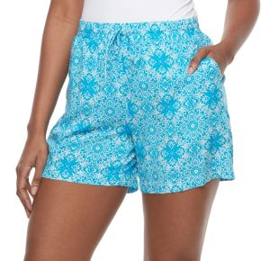 Petite Kate and Sam Medallion Challis Shorts