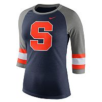 Women's Nike Syracuse Orange Striped Sleeve Tee