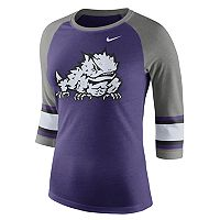 Women's Nike TCU Horned Frogs Striped Sleeve Tee
