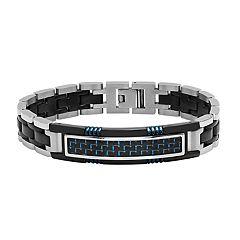 Stainless Steel Triple-Tone Men's ID Bracelet