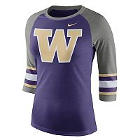 Women's Nike Washington Huskies Striped Sleeve Tee