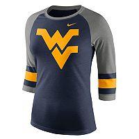 Women's Nike West Virginia Mountaineers Striped Sleeve Tee