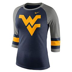 Women's Nike West Virginia Mountaineers Striped Sleeve Tee