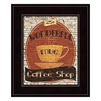 Wonderful Coffee Shop Framed Wall Art