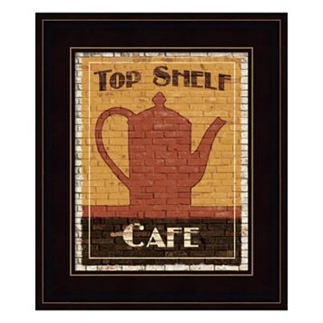 Top Shelf Cafe Framed Wall Art