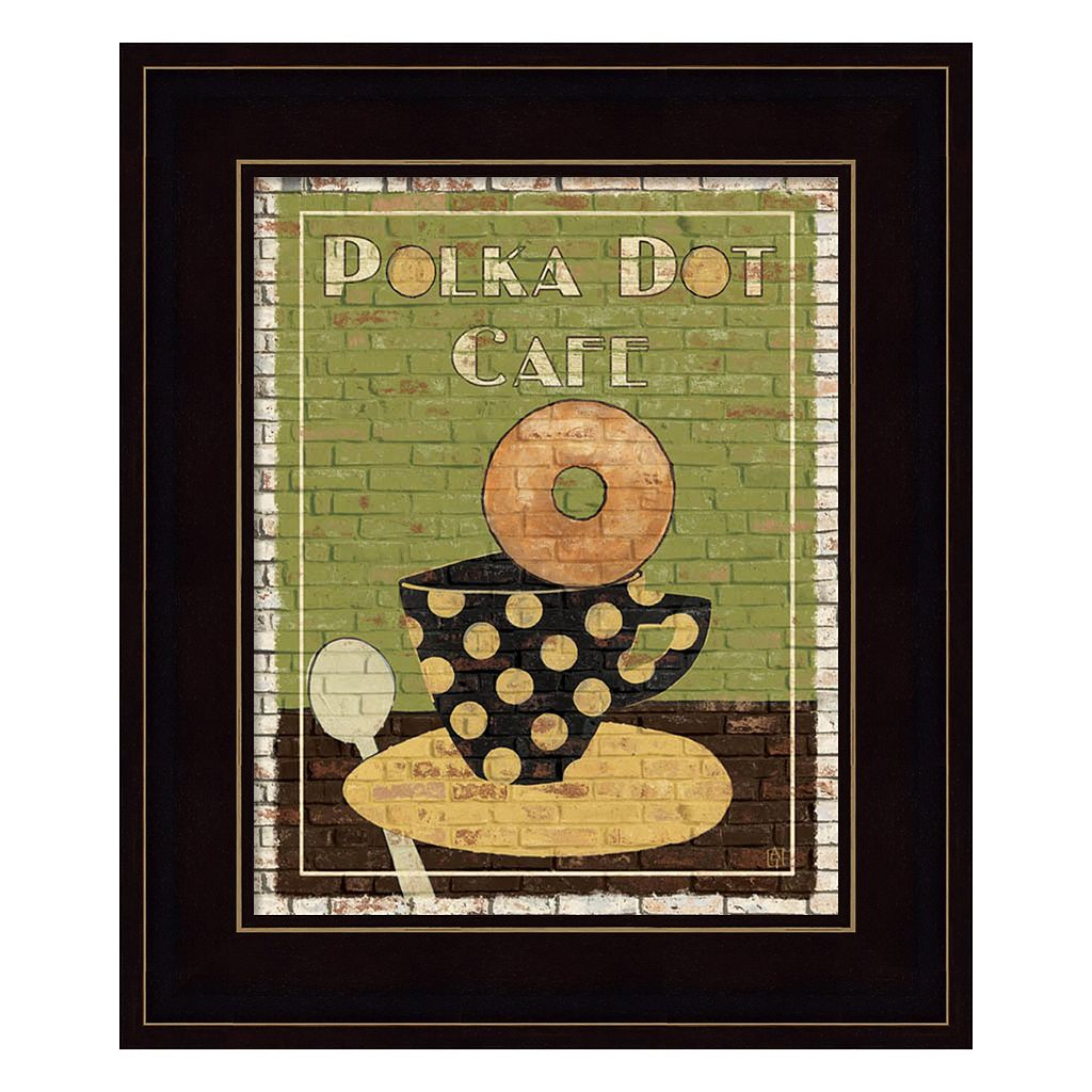 Polka Dot Cafe Framed Wall Art