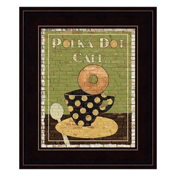 Polka Dot Cafe Framed Wall Art