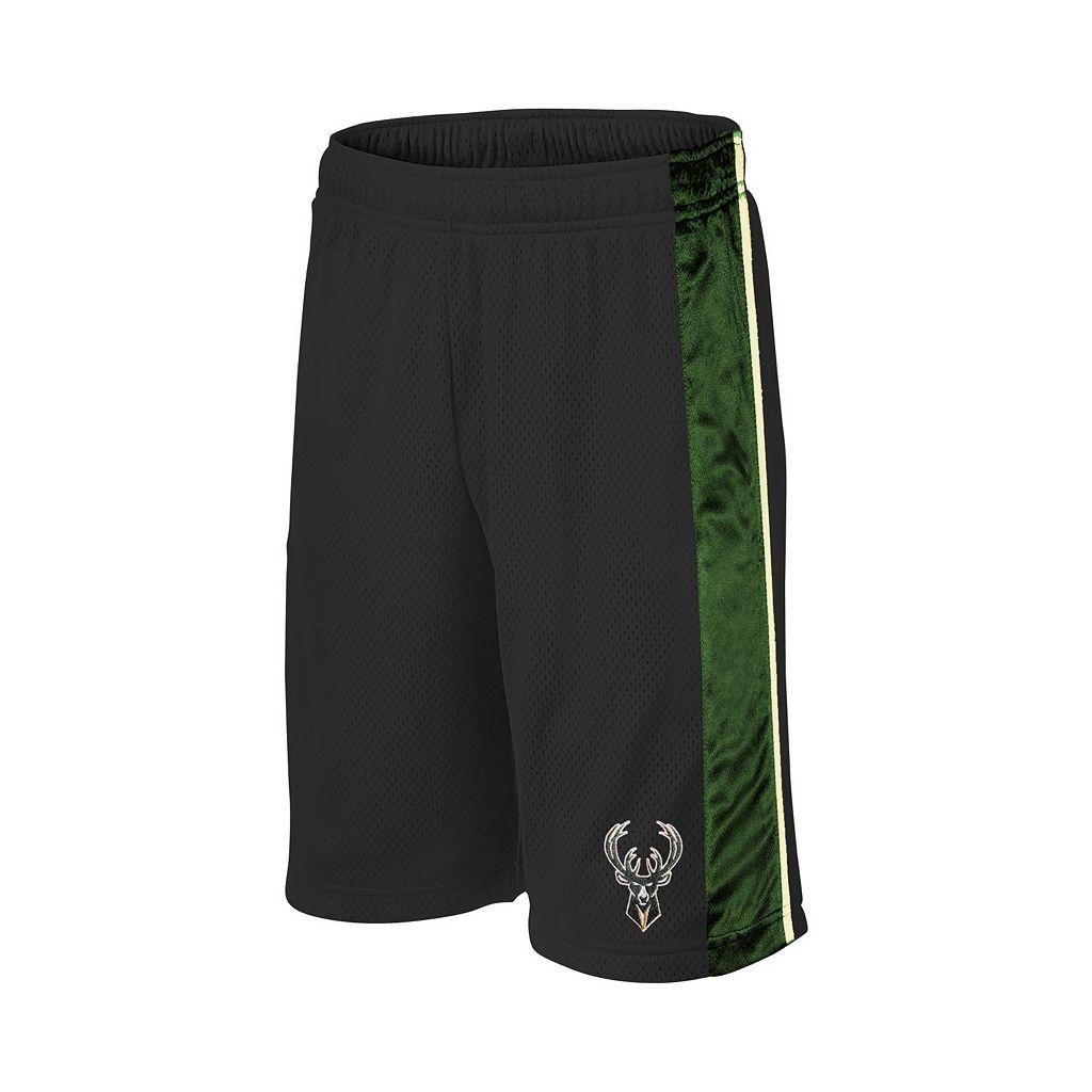 Boys 8-20 Majestic Milwaukee Bucks Birdseye Shorts
