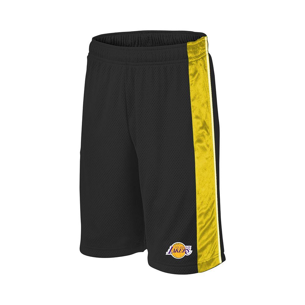 Boys 8-20 Majestic Los Angeles Lakers Birdseye Shorts
