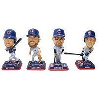Chicago Cubs 2016 World Series Champions 4-Piece Bobblehead Collection