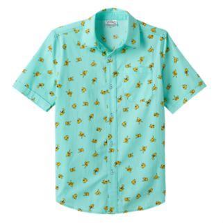 Boys 8-20 Pokemon Pikachu Button-Down Shirt
