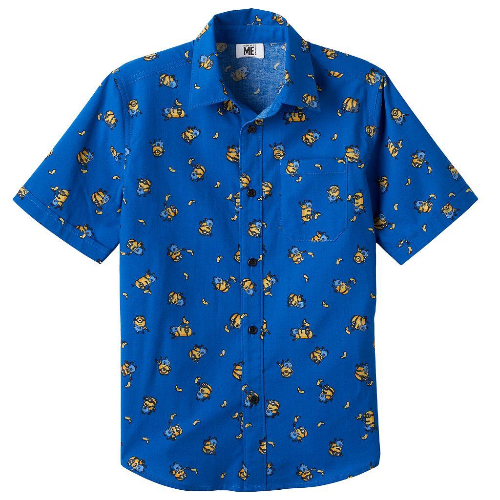 Boys 8-20 Minions Button-Down Shirt