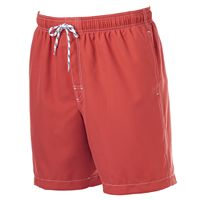 Big & Tall Croft & Barrow® Solid Microfiber Volley Swim Trunks