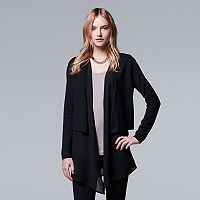 Women's Simply Vera Vera Wang Draped Chiffon Cardigan