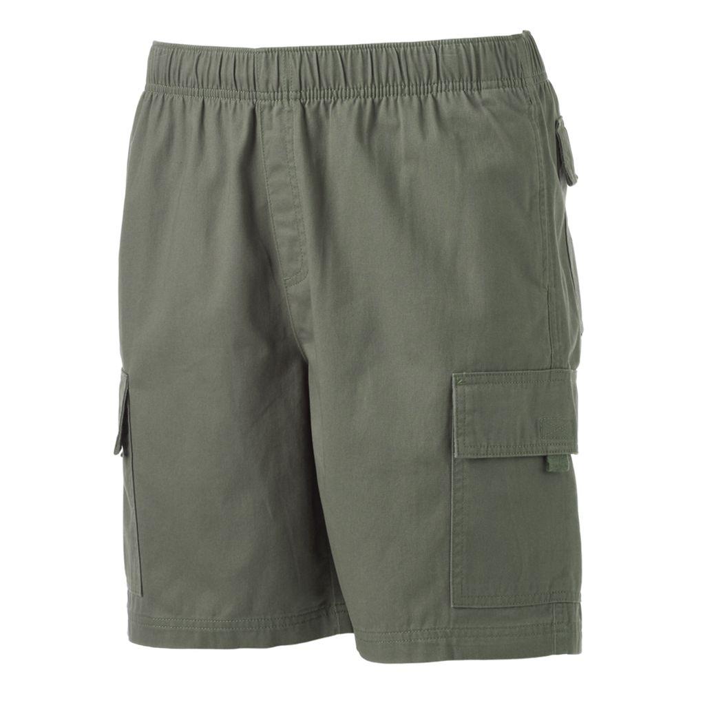 Men's Croft & Barrow® Classic-Fit Canvas Twill Elastic Cargo Shorts