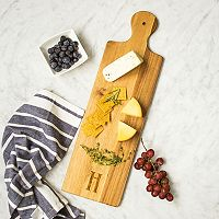 Cathy's Concepts Monogram Acacia Bread Serving Board Set