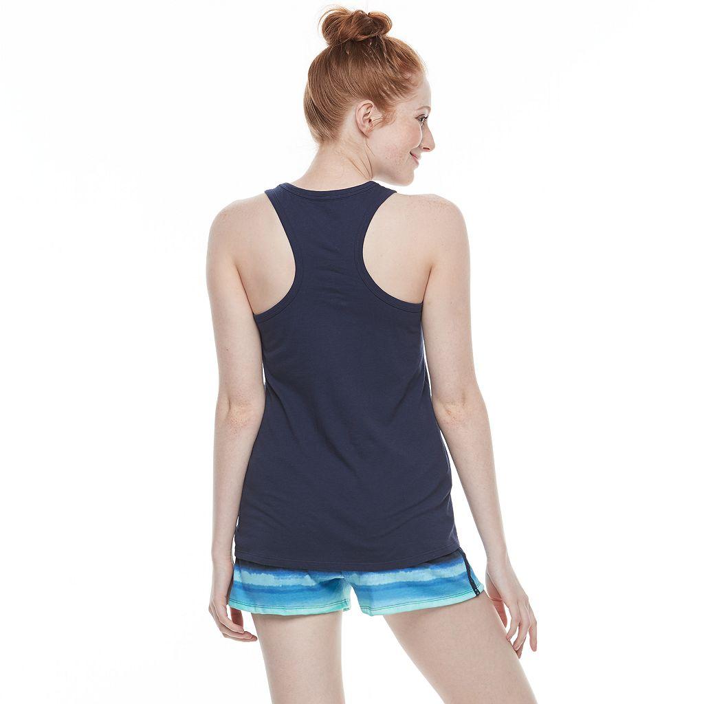 Juniors' SO® Pajamas: Racerback Tank & Shorts PJ Set