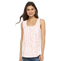 Petite Kate and Sam Lace Overlay Tank