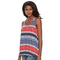 Petite Kate and Sam Bandana Print Halter Tank