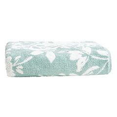 Loft by Loftex Floral Block Jacquard Bath Towel