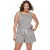Juniors' Plus Size SO® Drawstring Tank Romper