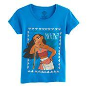 Disney's Moana Girls 7-16 Turquoise Graphic Tee