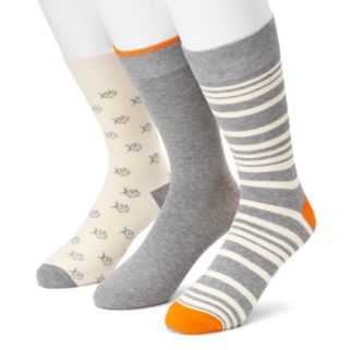 Men's SONOMA Goods for Life™ 3-pack Fish, Striped & Solid Crew Socks