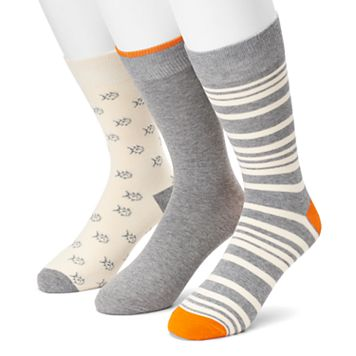 Men's SONOMA Goods for Life™ 3-pack Fish, Striped & Solid Crew Socks