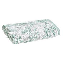 Loft by Loftex Floral Block Jacquard Washcloth