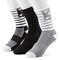 Men's Tek Gear® 3-Pack CoolTEK Americana Performance Athletic Crew Socks