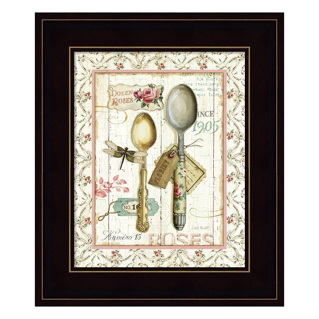 Rose Garden Utensils II Framed Wall Art