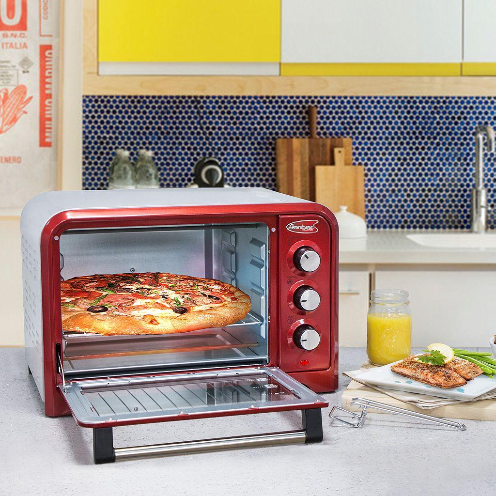 Americana by Elite 6-Slice Retro Toaster Oven