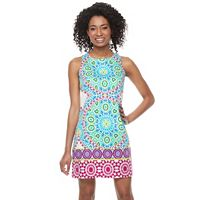 Petite Suite 7 Flower Tile Shift Dress