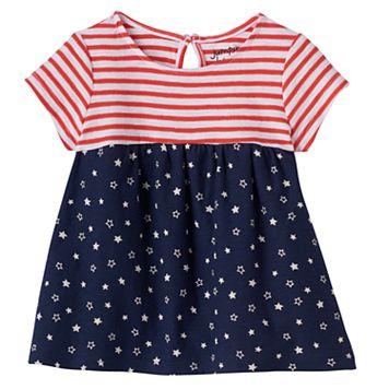 Baby Girl Jumping Beans® Patriotic Babydoll Tunic
