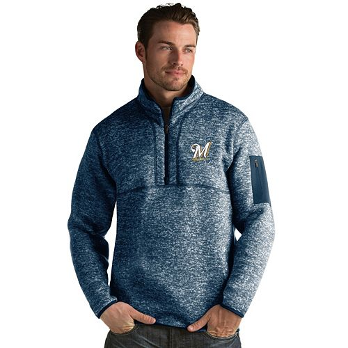 Men's Antigua Milwaukee Brewers Fortune Pullover