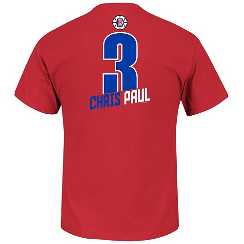Boys 8-20 Majestic Los Angeles Clippers Chris Paul Record Holder Name and Number Tee