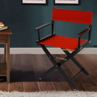 """Casual Home 18"""" Black Finish Director's Chair"""