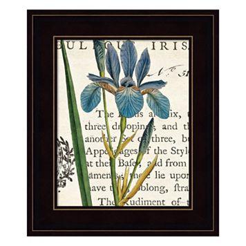 Iris Letter Framed Wall Art