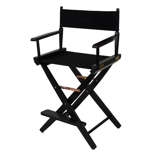 "Casual Home 24"" Black Finish Director's Chair"