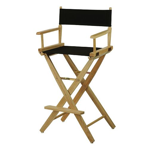 """Casual Home 30"""" Extra-Wide Director's Chair Bar Stool"""