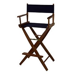 Casual Home 30' Extra-Wide Oak Finish Director's Chair Bar Stool