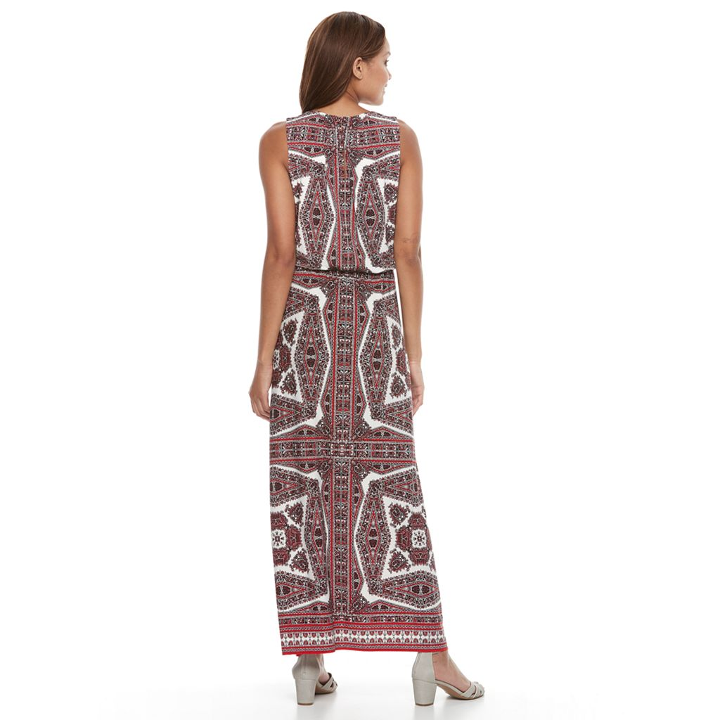 Petite Suite 7 Sleeveless Blouson Maxi Dress
