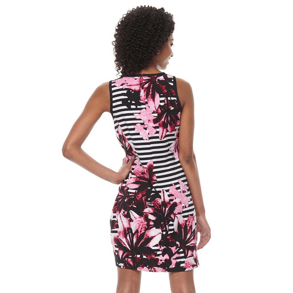 Petite Suite 7 Lily Stripe Shift Dress